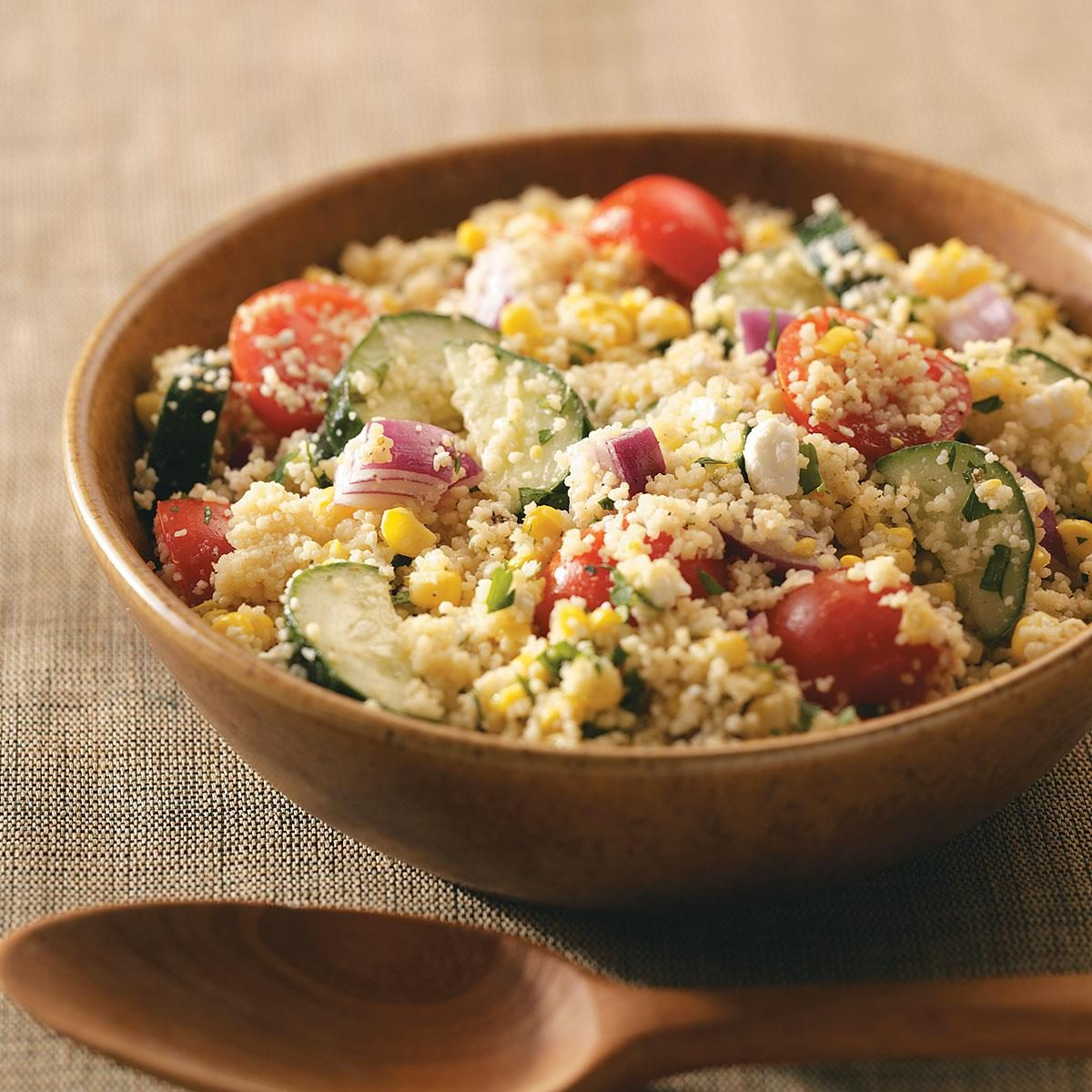 Summer garden couscous salad recipe taste of home for Best summer pasta salad recipes ever