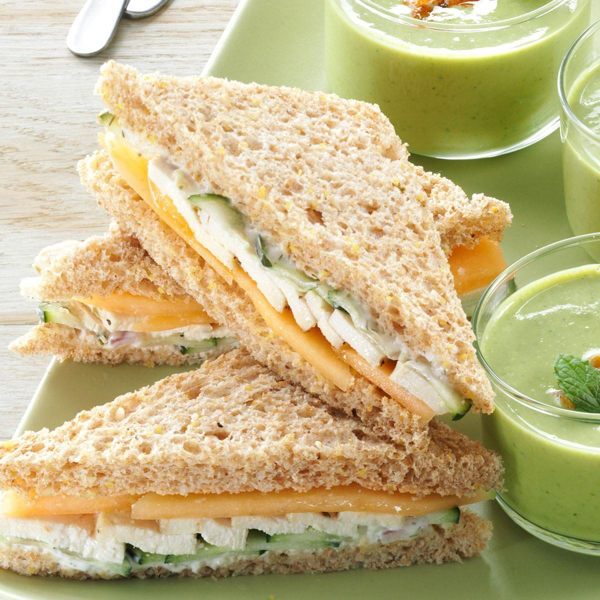 High tea menus and recipes - Summer Tea Sandwiches