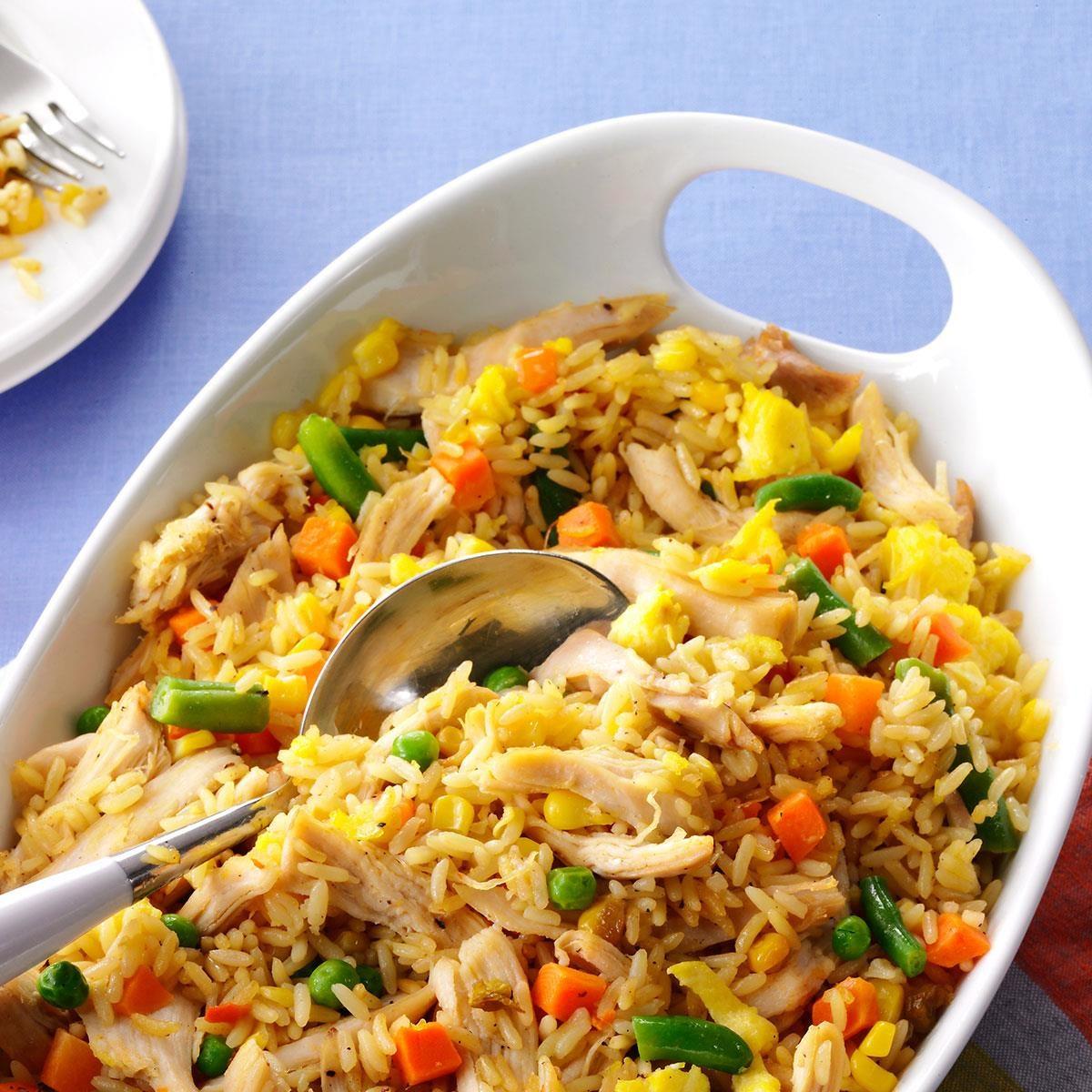 Super Quick Chicken Fried Rice Recipe