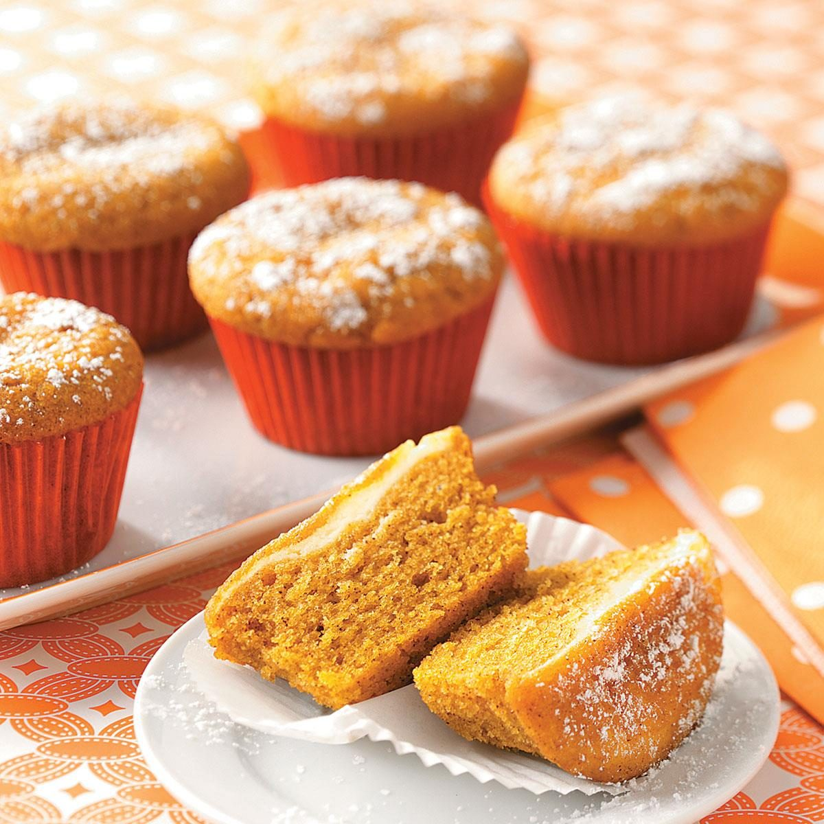 Pumpkin Cupcakes Surprise Pumpkin Cupcakes Recipe  Taste Of Home