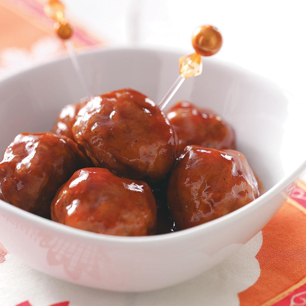 Sweet N Spicy Meatballs Recipe Taste Of Home