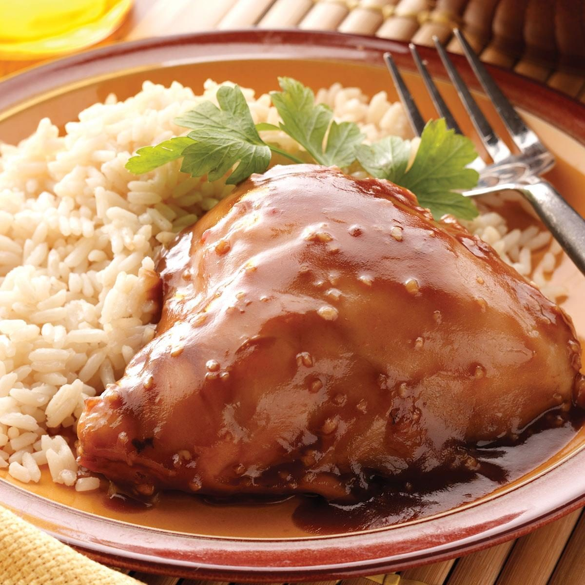 Whole Chicken Rice Slow Cooker Recipe-9530