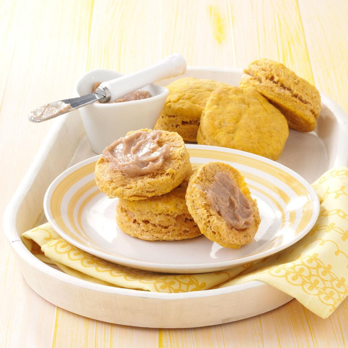 Sweet Potato Biscuits with Honey Butter Recipe | Taste of Home