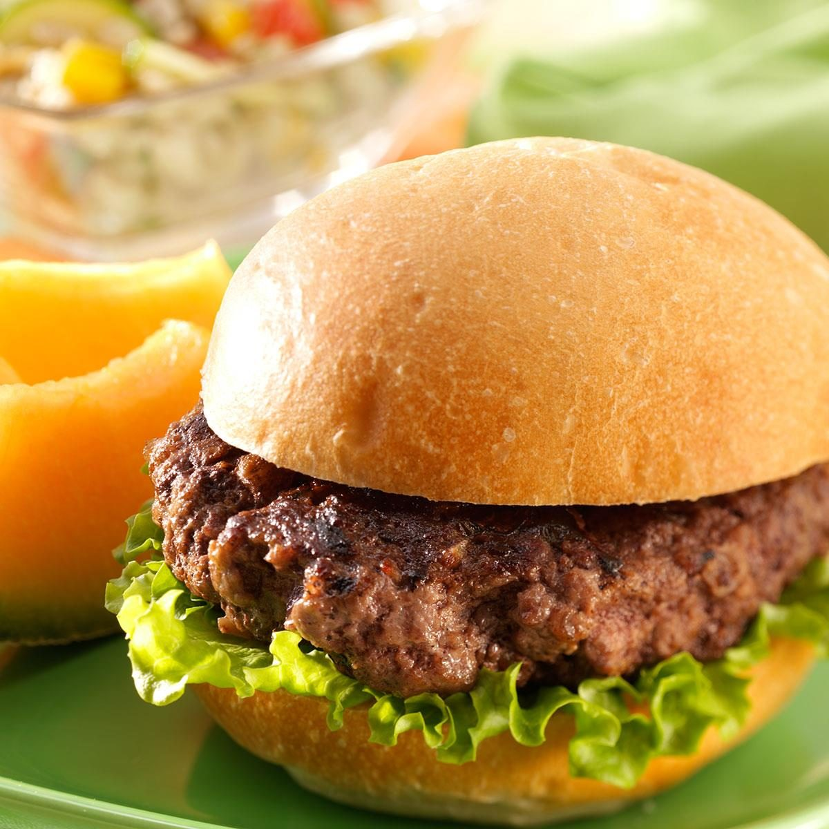 teriyaki beef burgers recipe taste of home. Black Bedroom Furniture Sets. Home Design Ideas