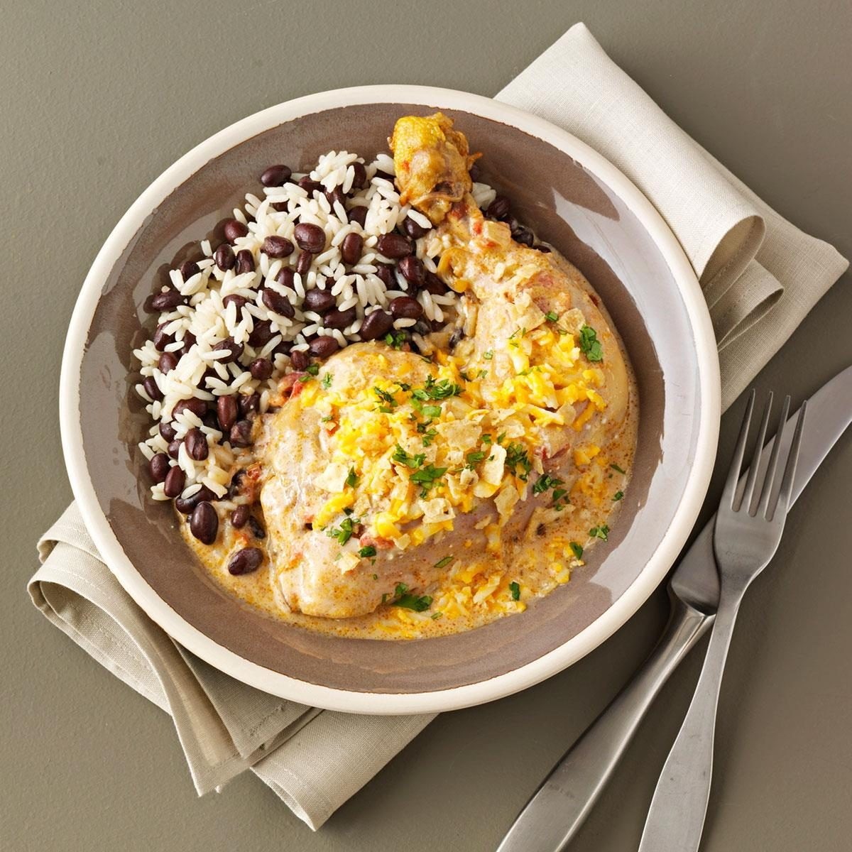 Tex-Mex Chicken with Black Beans & Rice Recipe | Taste of Home