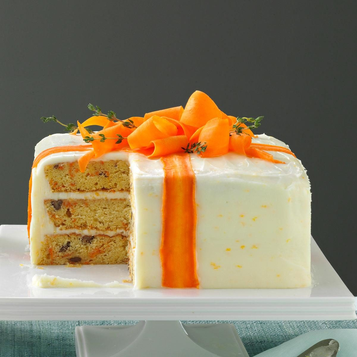 carrot cake decoration three layered carrot cake recipe taste of home 2474