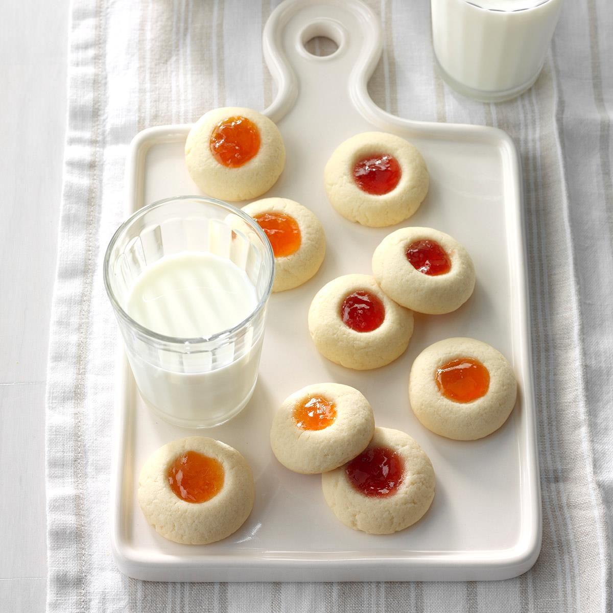 Thumbprint Butter Cookies Recipe