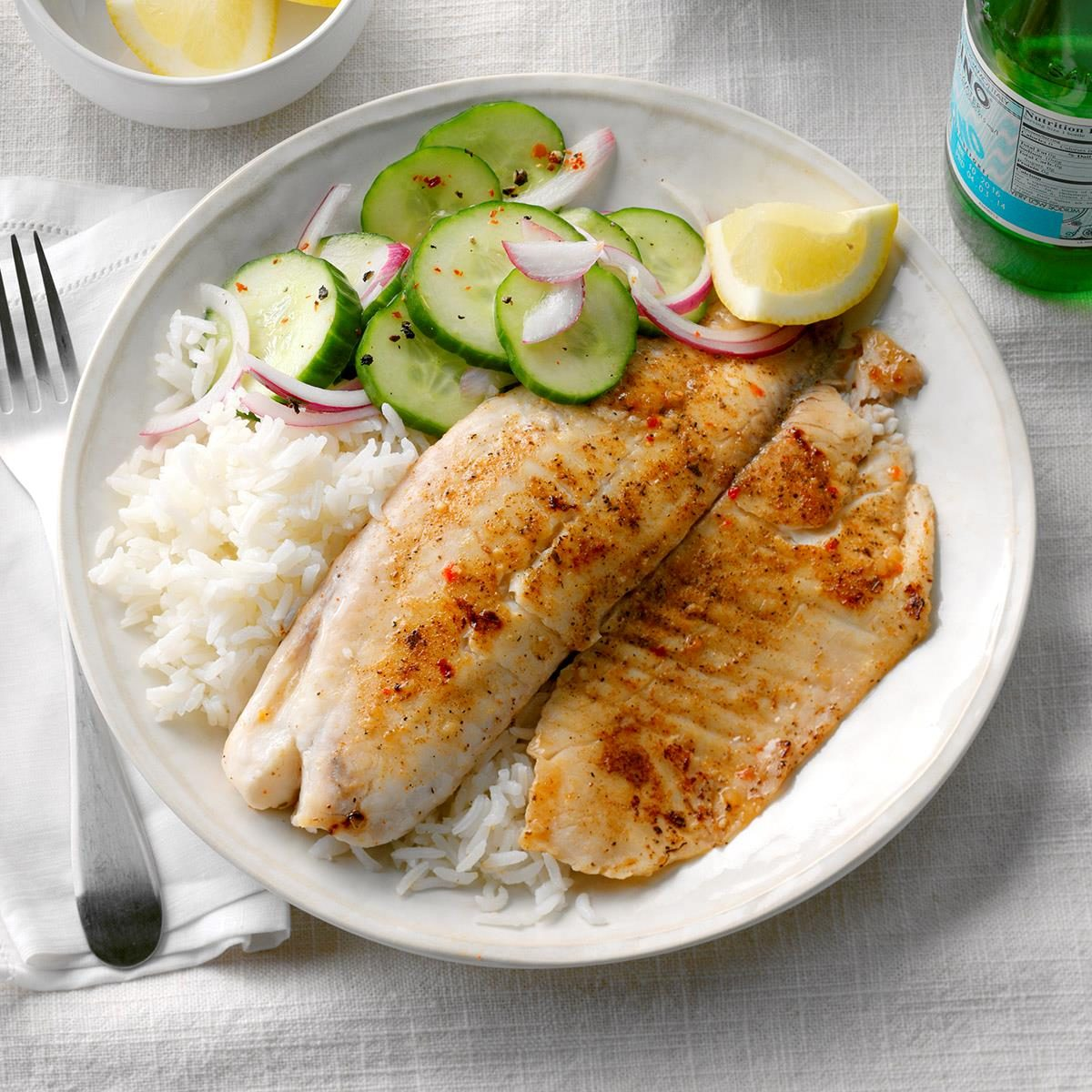Tilapia with jasmine rice recipe taste of home for Fish and rice recipes