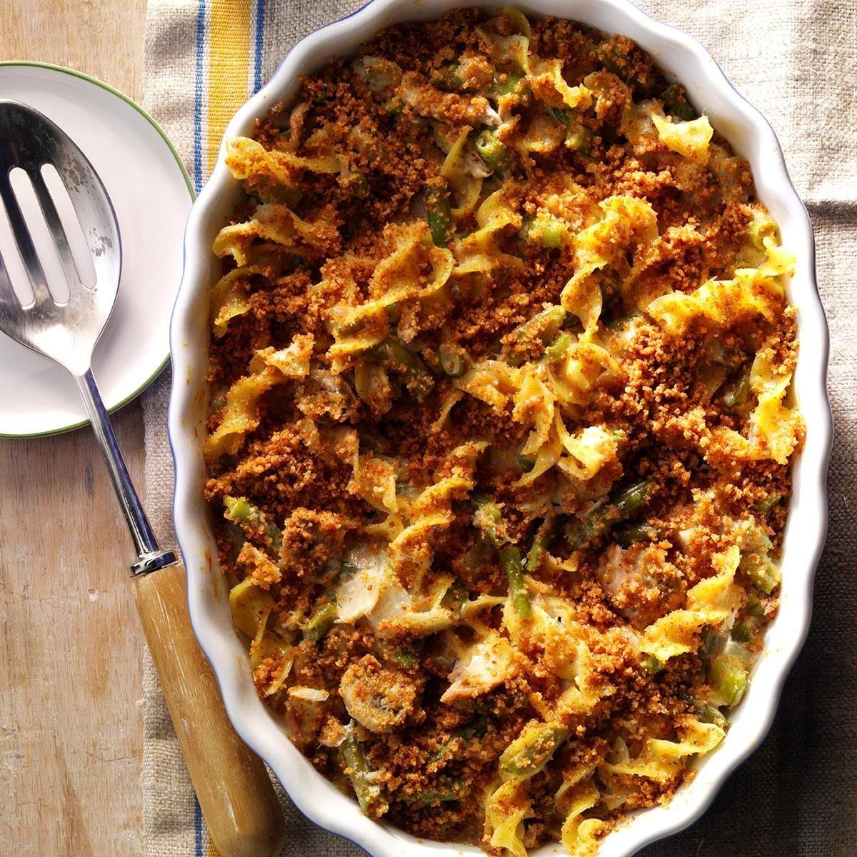 Tuna Mushroom Casserole Recipe | Taste of Home