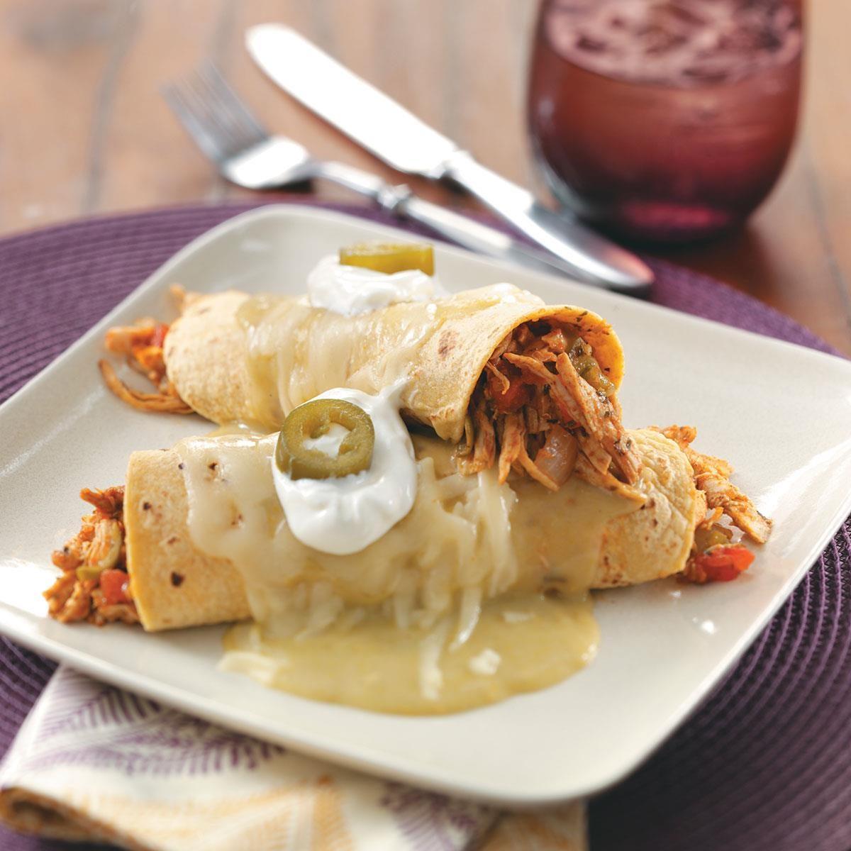 Turkey Enchiladas Verdes Recipe | Taste of Home