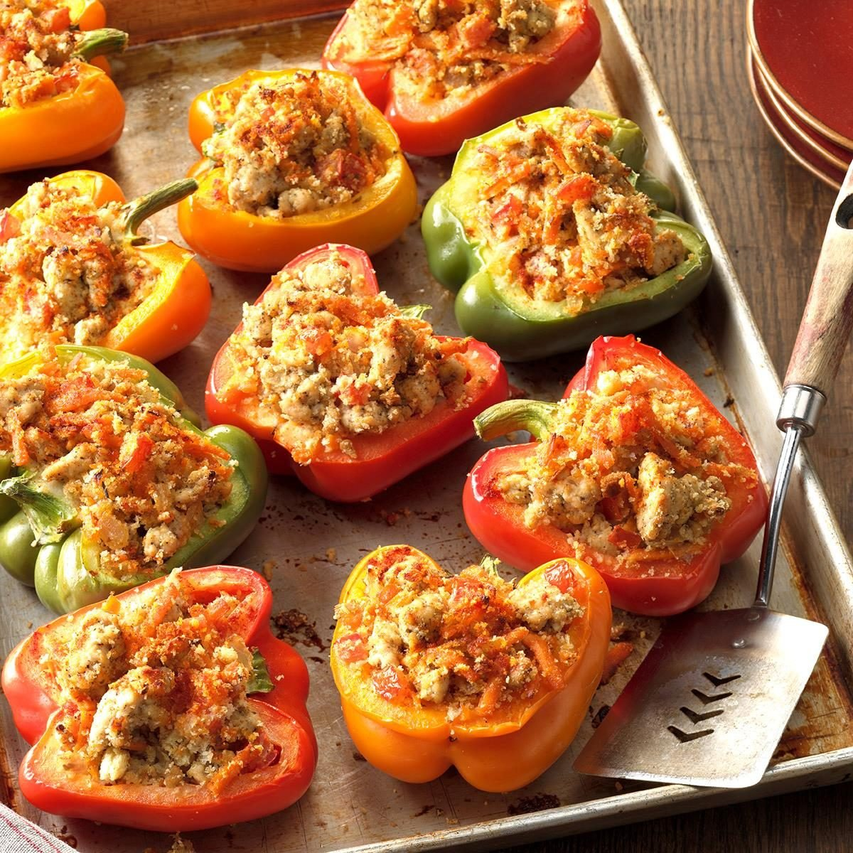Stuff To Make With Ground Beef: Turkey-Stuffed Bell Peppers Recipe