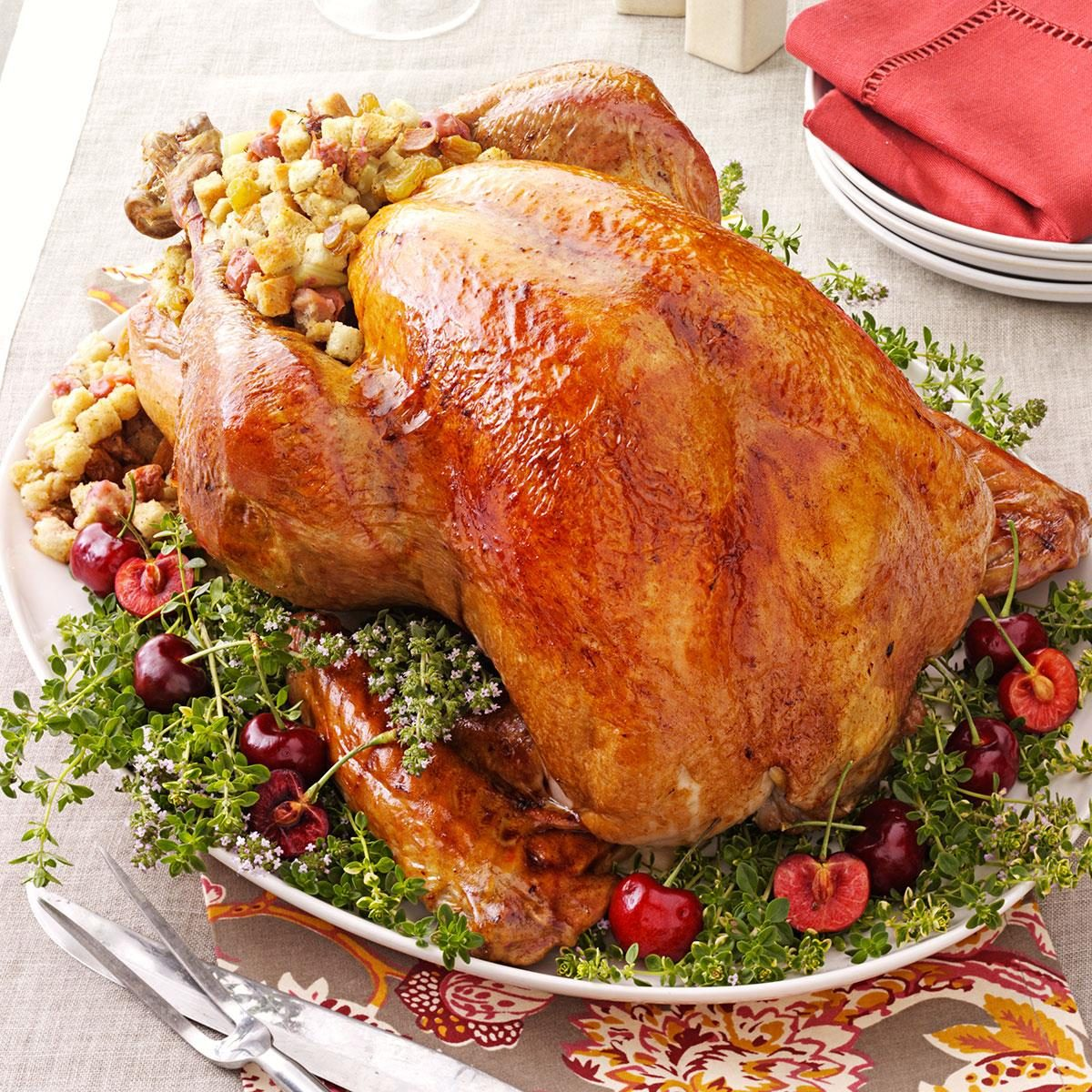 Turkey With Cherry Stuffing Recipe