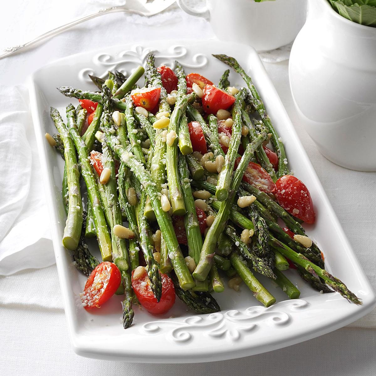 Tuscan style roasted asparagus recipe taste of home ccuart Gallery
