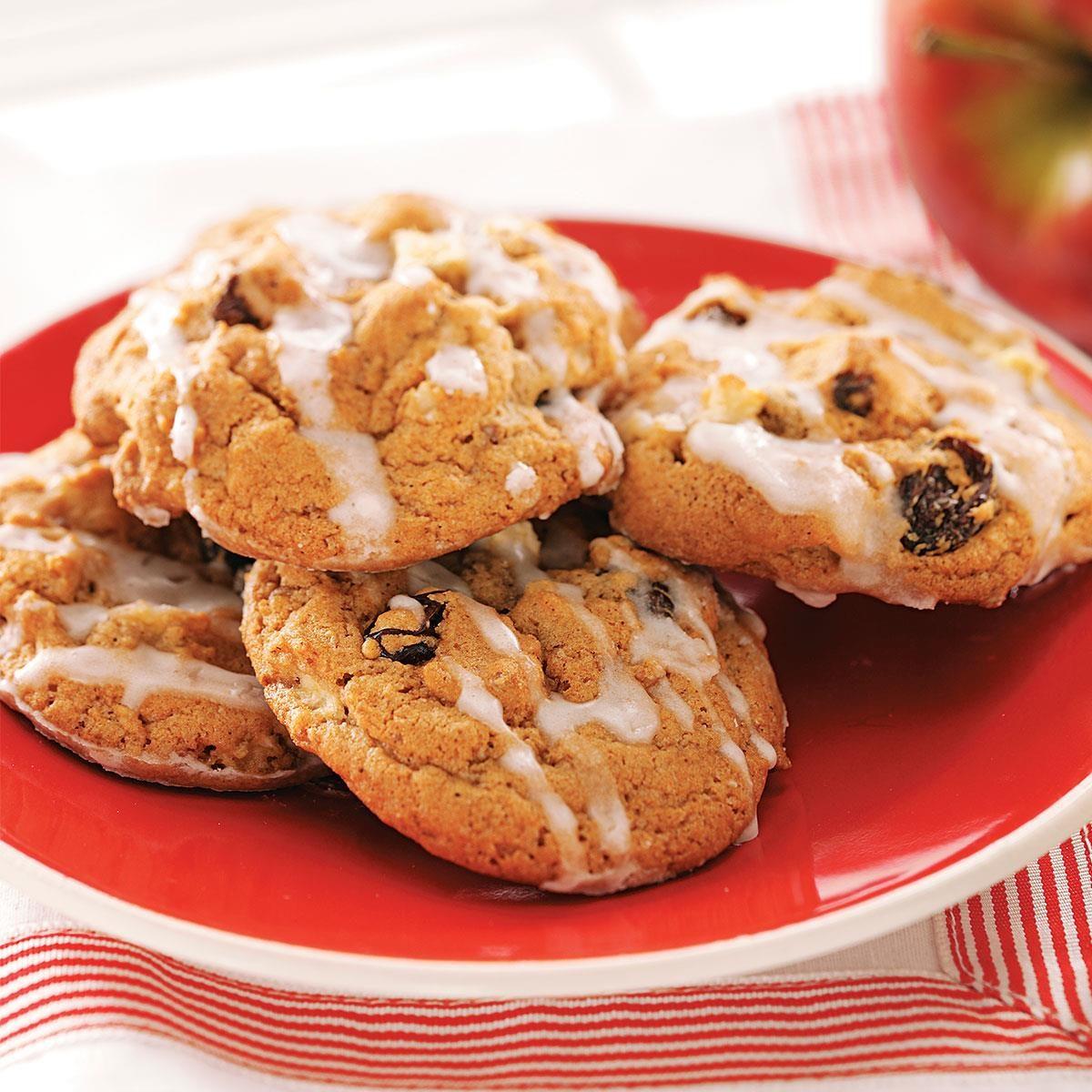 Vanilla-Glazed Apple Cookies Recipe | Taste of Home