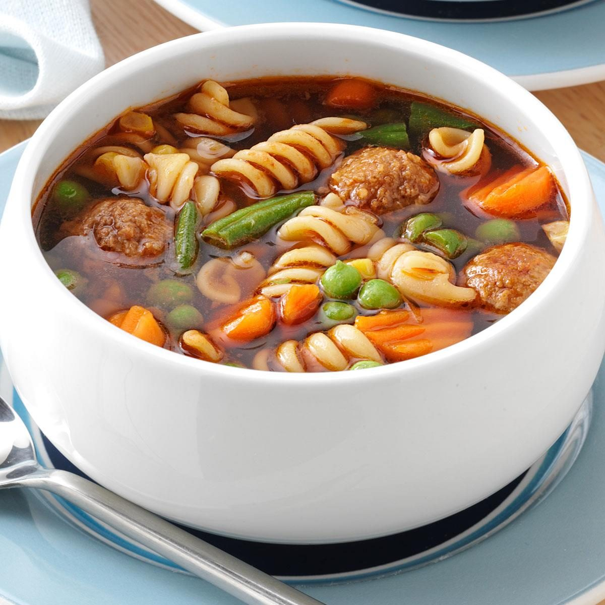 Veggie Meatball Soup for 3 Recipe | Taste of Home