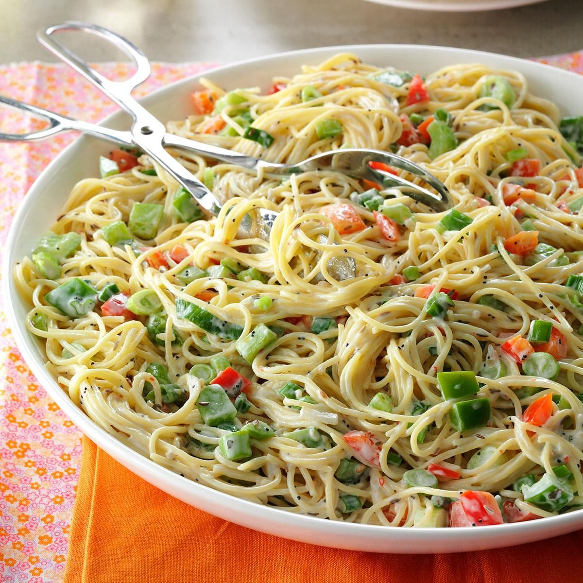 Easter Side Dishes Vermicelli Pasta Salad Recipe Taste Of Home