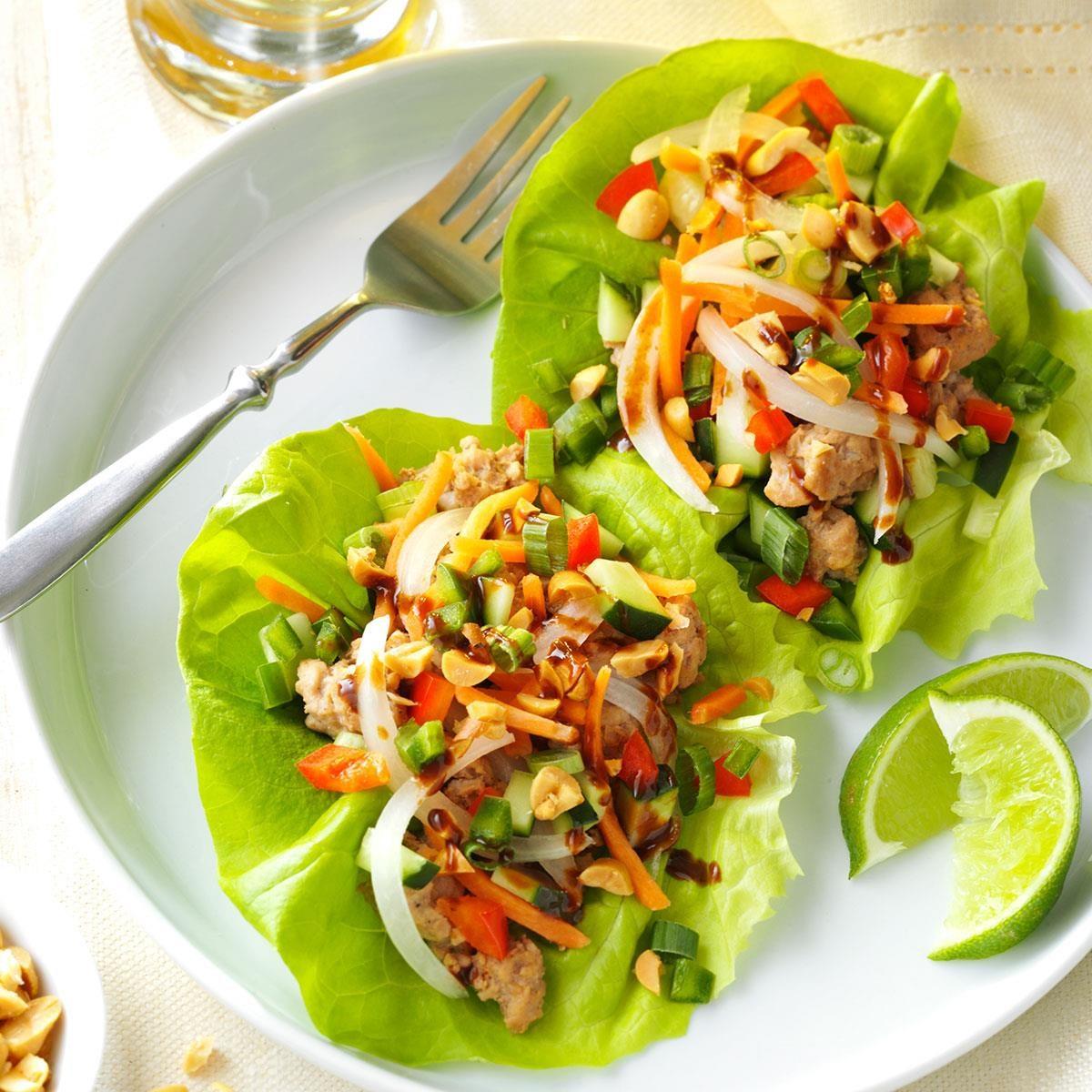 Vietnamese Pork Lettuce Wraps Recipe | Taste of Home