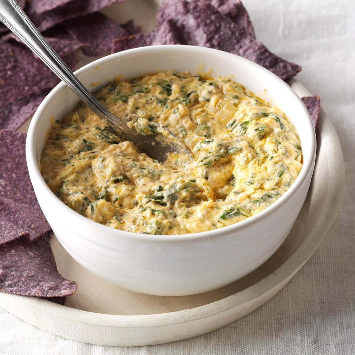 Warm Crab & Spinach Dip Recipe | Taste of Home