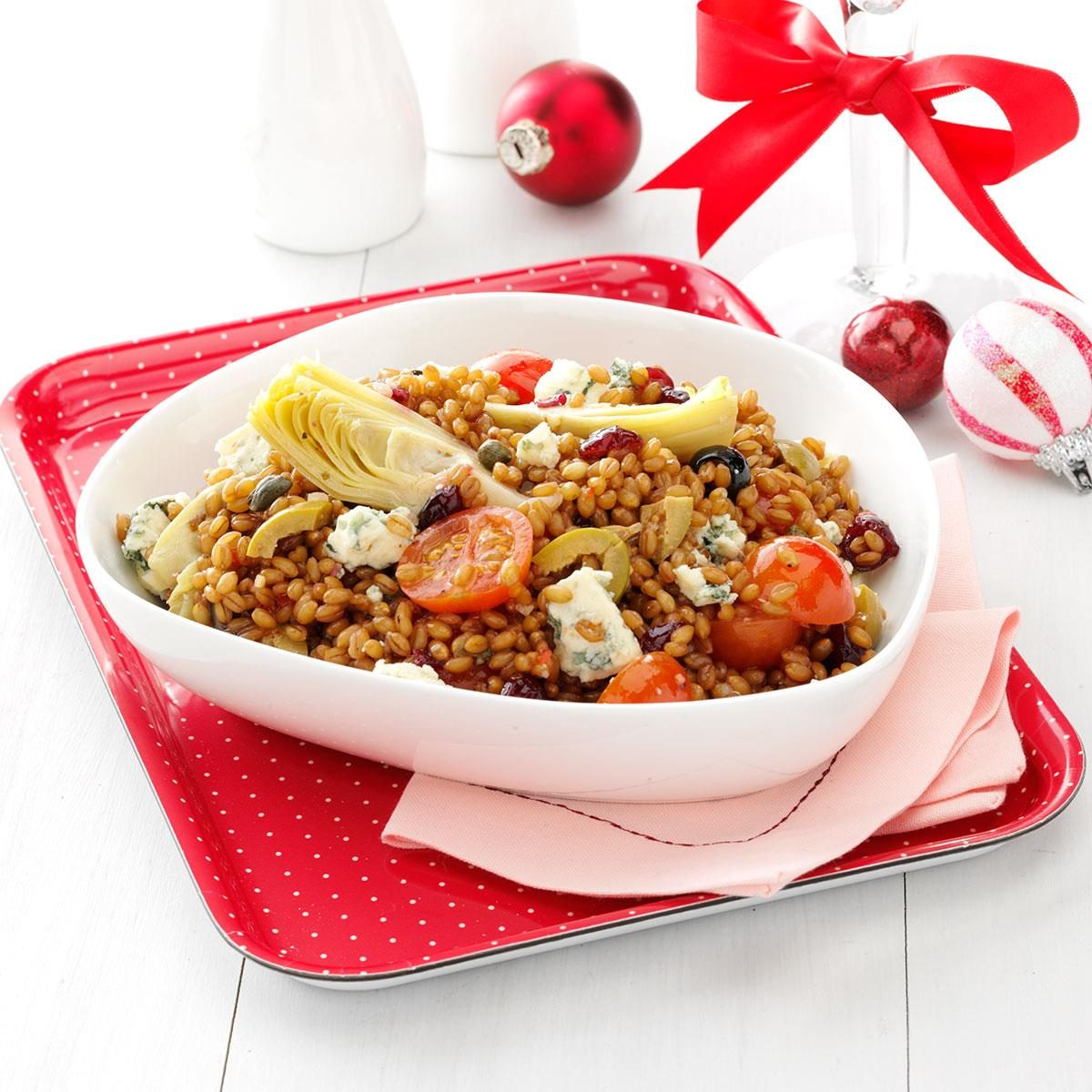 Wheat Berry Salad with Artichokes and Cranberries Recipe ...
