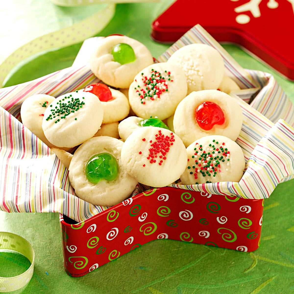 Whipped shortbread recipe taste of home for Easy holiday baking recipes for gifts