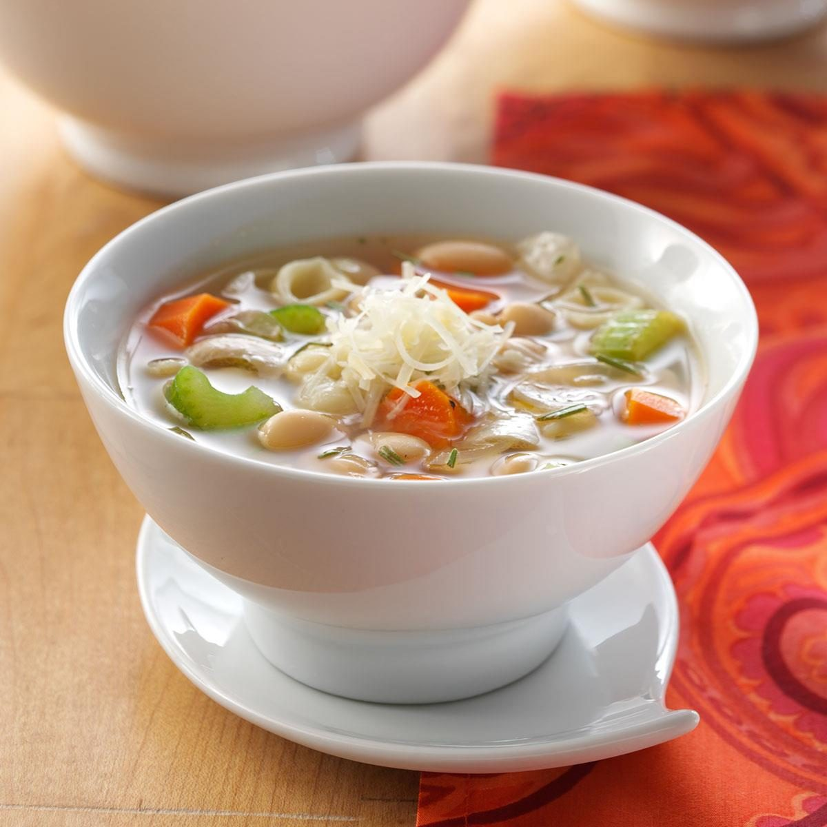 White Bean Soup with Rosemary & Parmesan Recipe | Taste of ...
