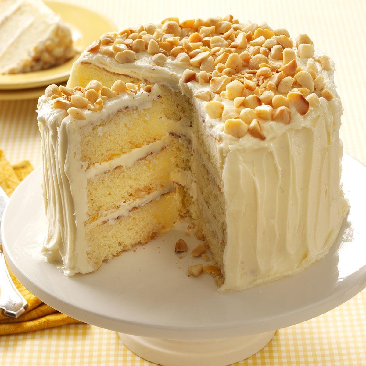 White Macadamia Cake Recipe