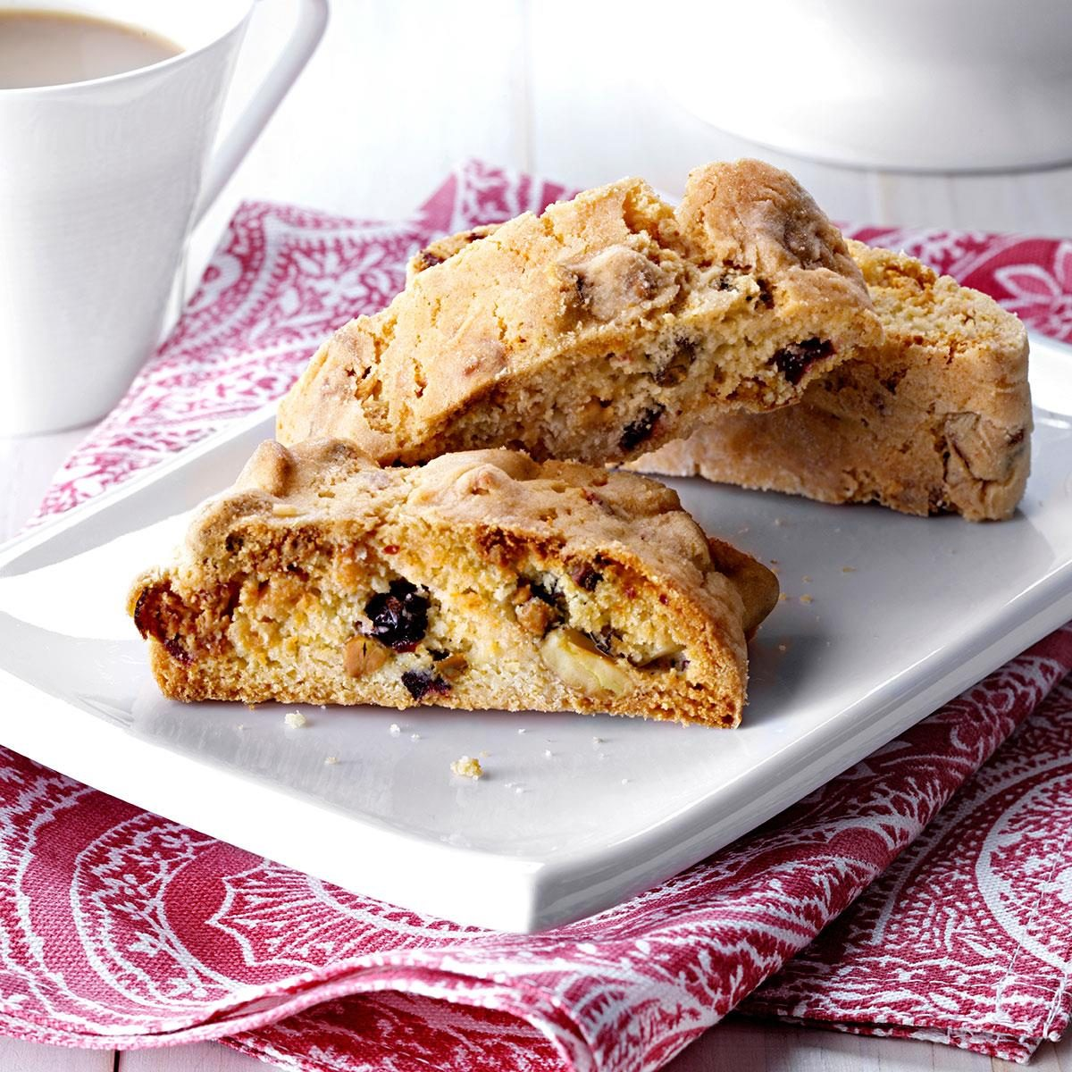 White Chocolate Pistachio and Cranberry Biscotti Recipe | Taste of ...