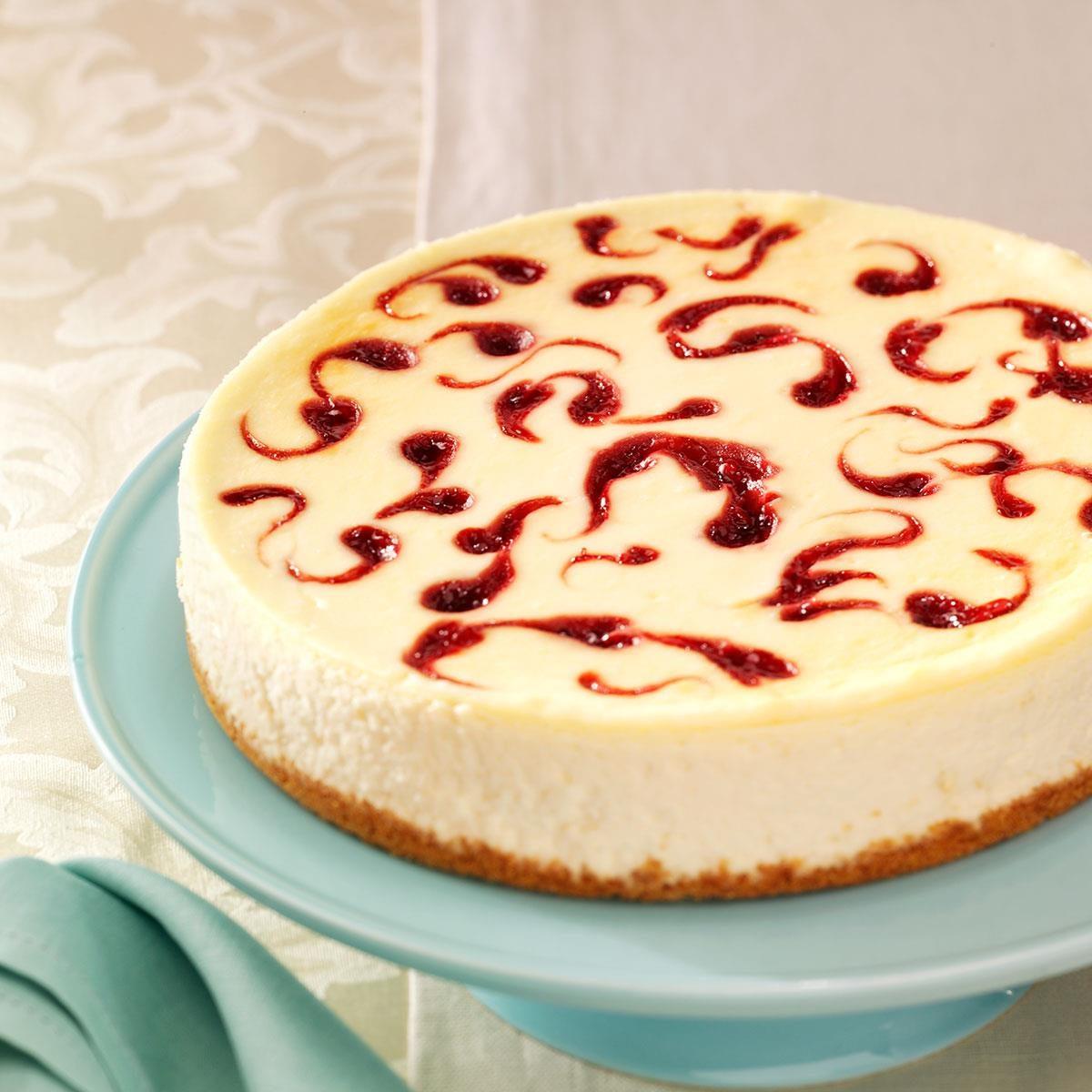 White Chocolate Raspberry Cheesecake Recipe | Taste of Home