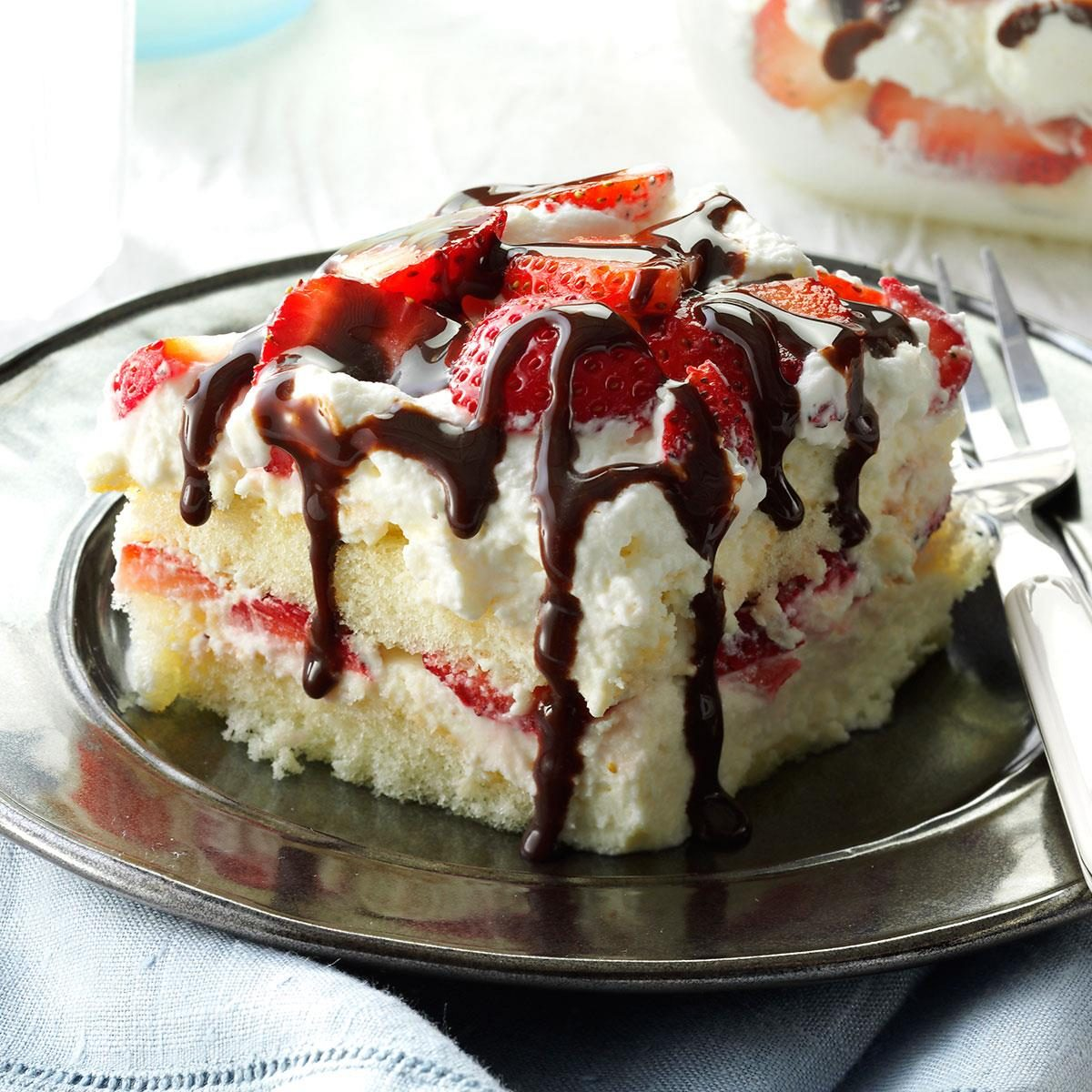 White Chocolate Strawberry Tiramisu Recipe Taste Of Home