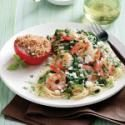 Mediterranean   Shrimp Skillet for Two