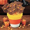 How to Make a Candy Corn Clay Pot Photo