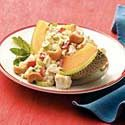 Cantaloupe Chicken-Orzo Salad
