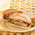 Grilled Veggie Sandwiches with Cilantro Pesto