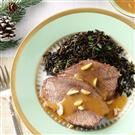 Almond Beef Roast with Wild Rice