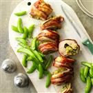Bacon-Wrapped Pesto Pork Tenderloin