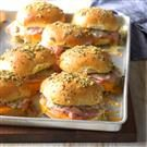 Baked Ham and Colby Sandwiches