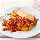 BBQ Chicken Polenta with Fried Egg