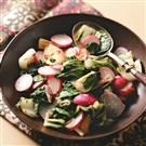 Bok Choy and Radishes