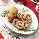 Chestnut-Onion Stuffed Turducken Bundles