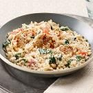 Creamy Rice, Chicken & Spinach Dinner