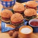 Cheesy Walnut Burgers