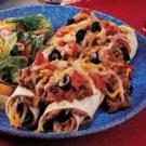 Beef-Topped Bean Enchiladas