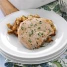 Quicker Pork Chops Over Stuffing