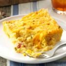 Ham & Cheese Grits Casserole