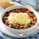 Three-Bean Chili with Polenta Crust