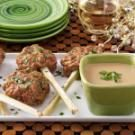 Shrimp Pops with Peanut Sauce