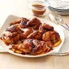 Plum-Glazed Cornish Hens