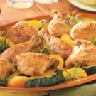 Baked Chicken and Acorn Squash