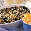 Spinach Bake with Sausage