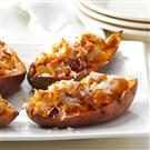 Triple-Stuffed Sweet Potatoes